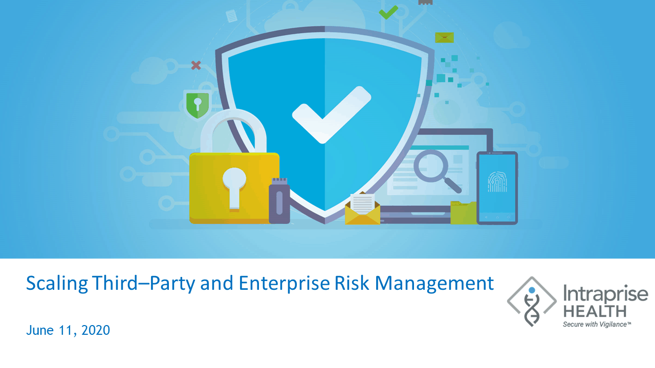 Scaling Third Party Enterprise Risk Management Title Slide